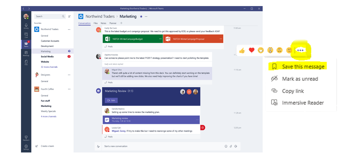 Microsoft Teams Chats