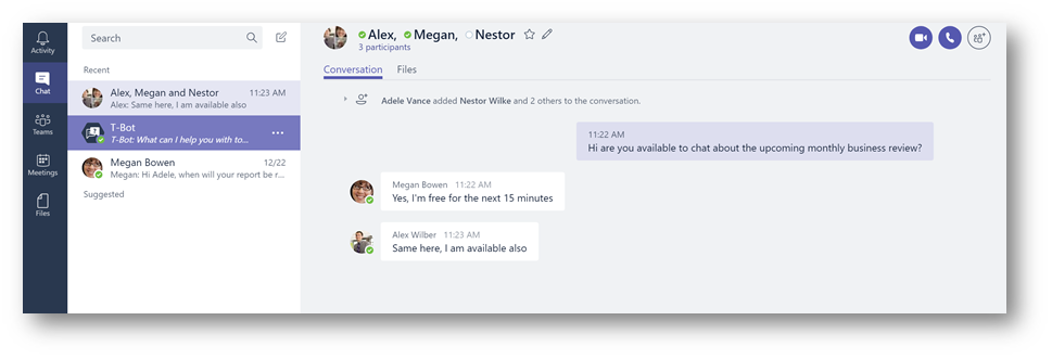 Group Chat Microsoft Teams