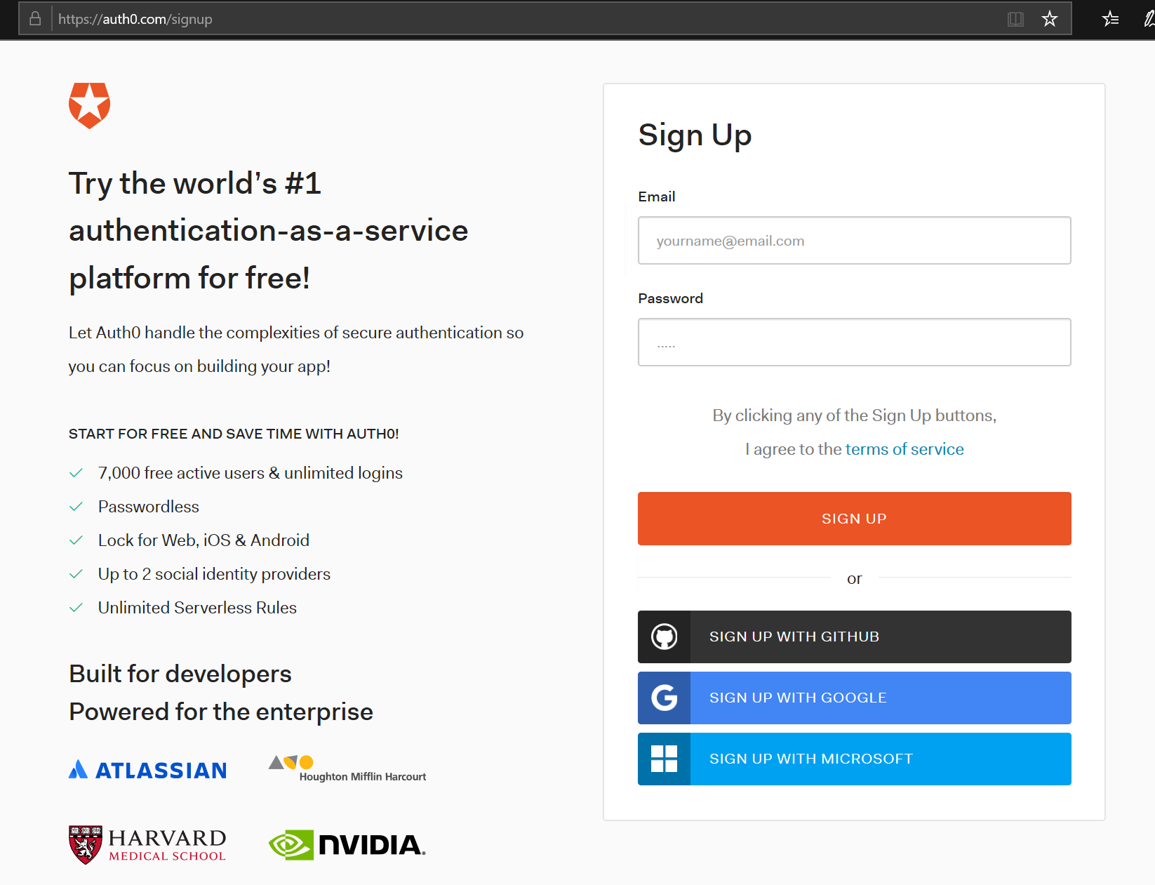 Auth0 Signup