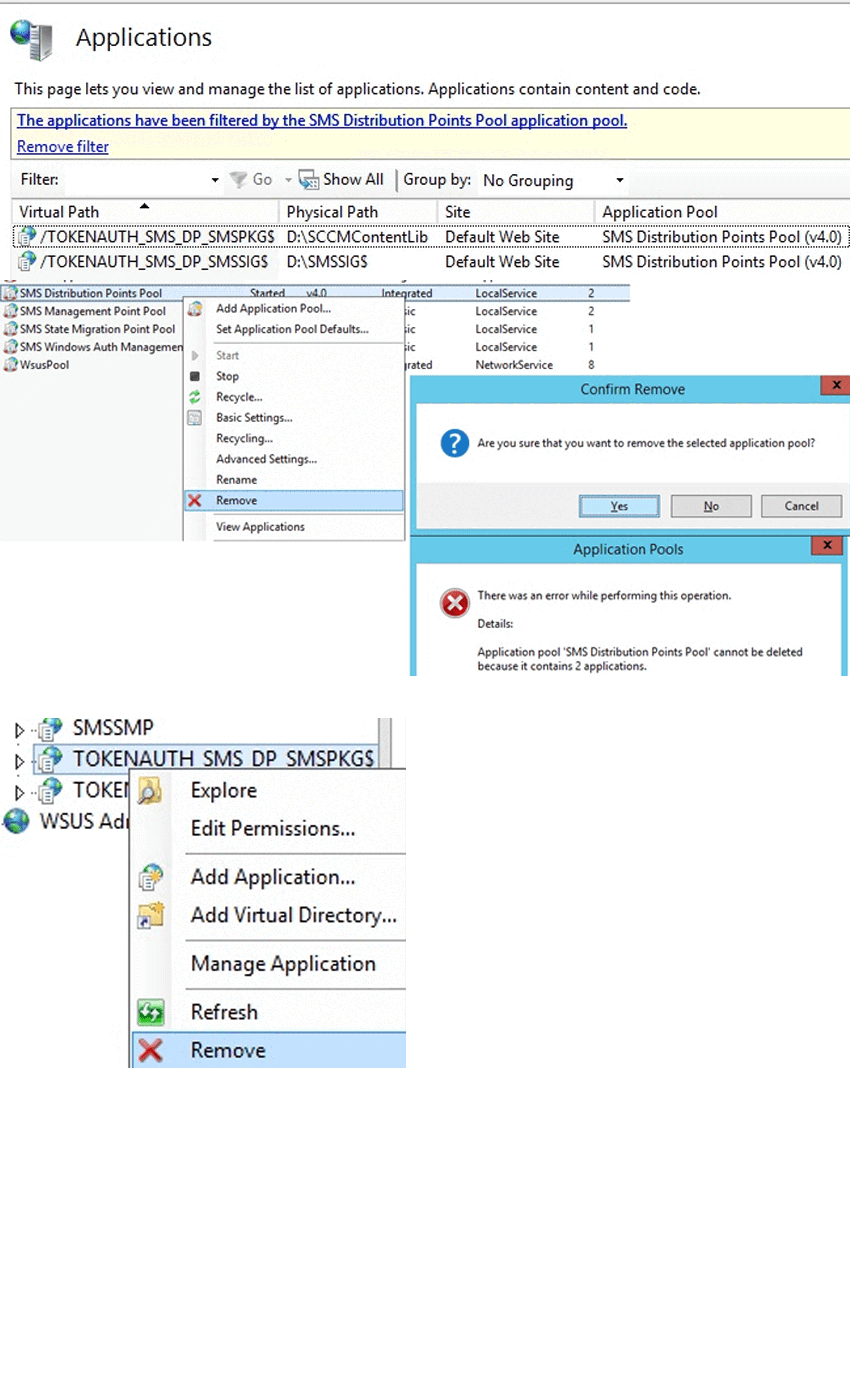 Applications SCCM
