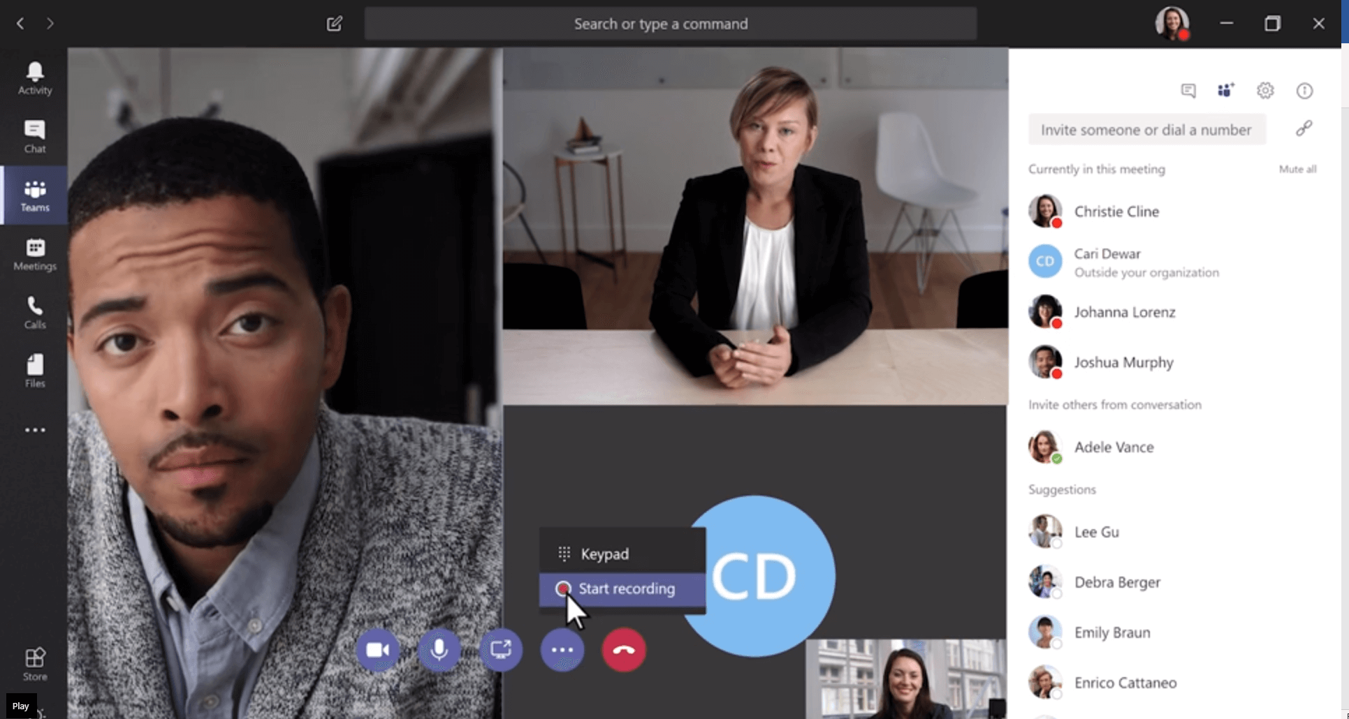 Recording Video Calls in Microsoft Teams