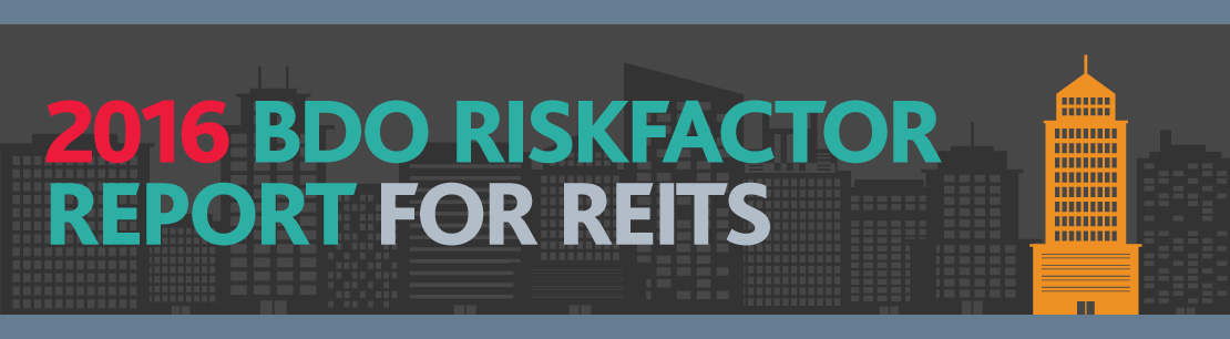 Riskfactor Report For Reits 2016 | Real Estate Industry