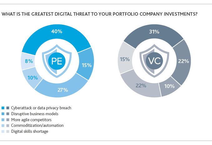 Graphs of digital threats to portfolio company investments