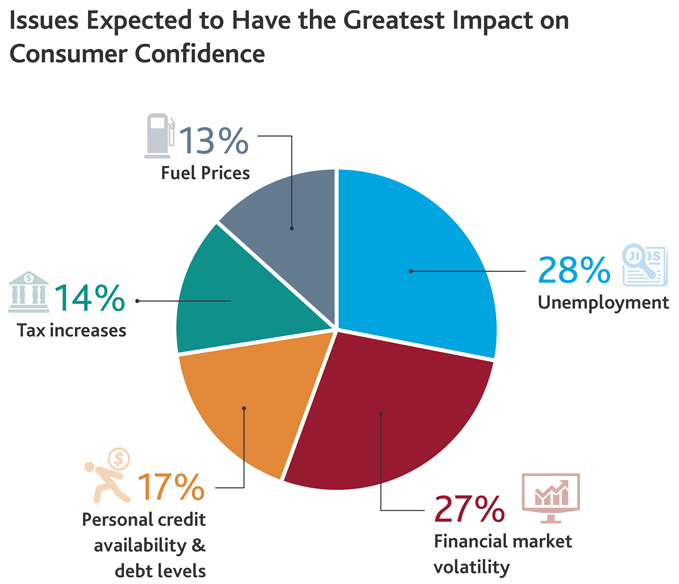 Issues Expected to Have the Greatest Impact on Consumer Confidence