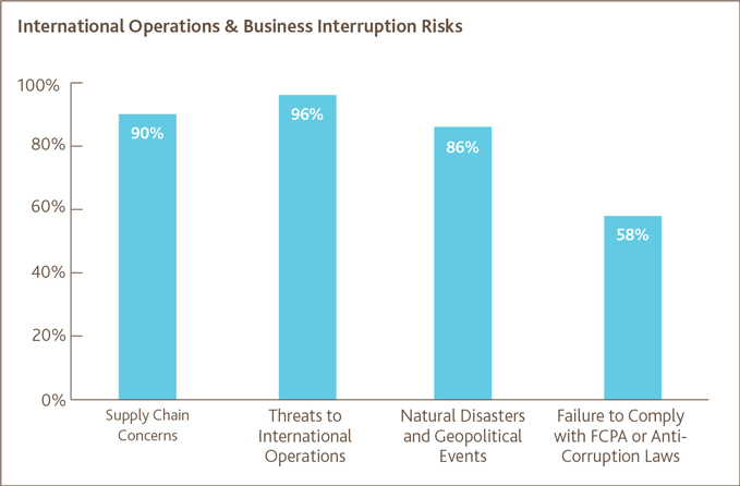International Operations & Business Interruptions Risks